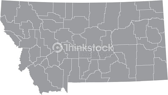 montana county map vector outline gray background map of montana