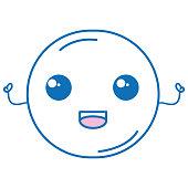 moon kawaii character isolated icon vector illustration design