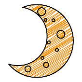moon night isolated icon vector illustration design
