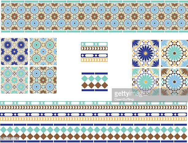 Moorish, Spanish Andalusian Tiles