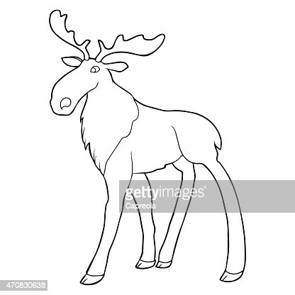 moose outline illustration vector art thinkstock