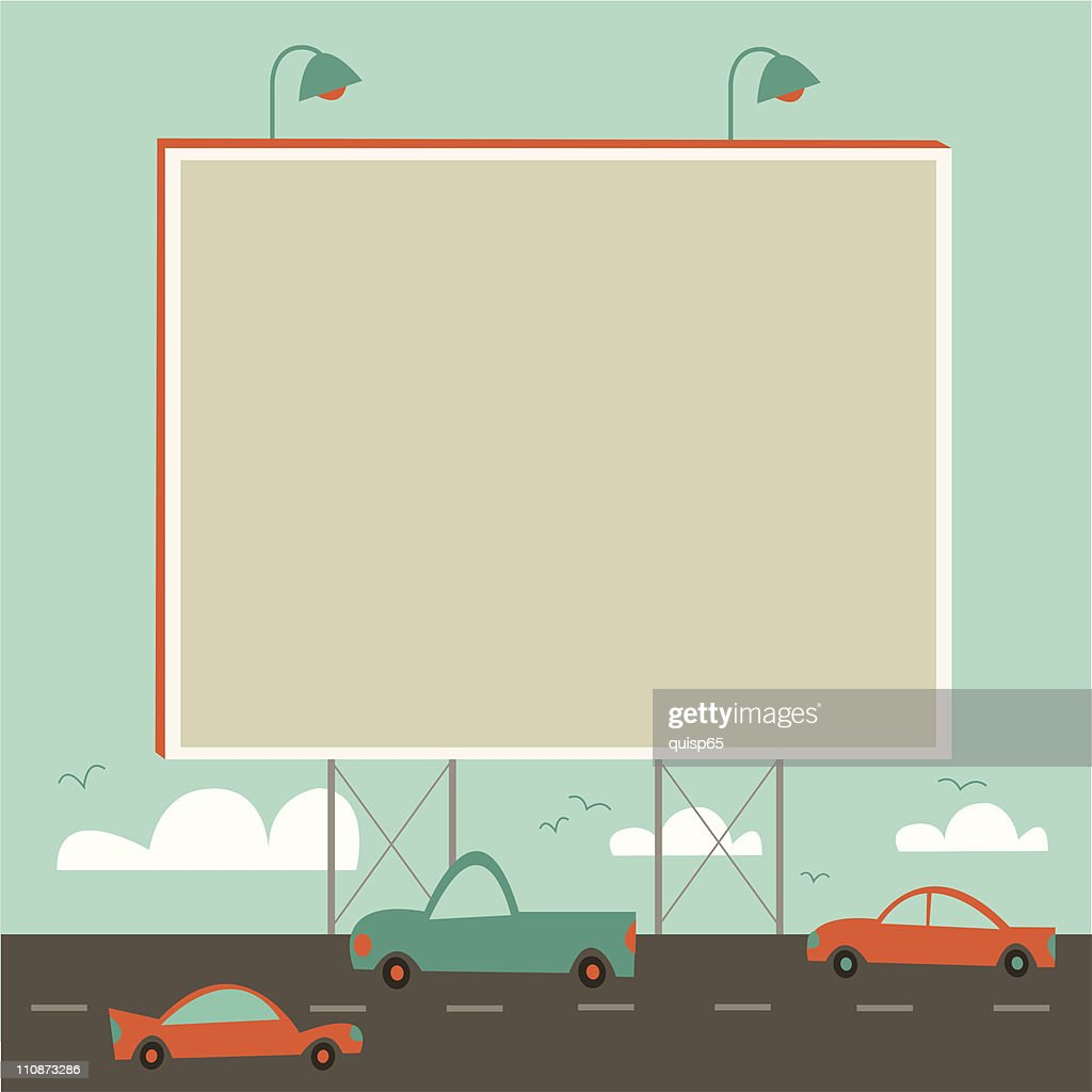 Morning Commute Billboard - Advertise Here! : Vector Art