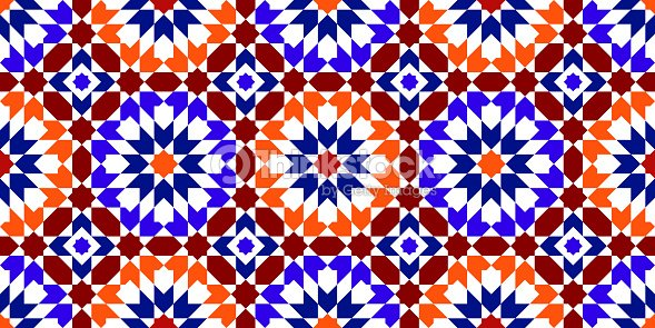 Marokkanische Muster Mosaikfliesen Vektorgrafik Thinkstock - Mosaik fliesen marokko