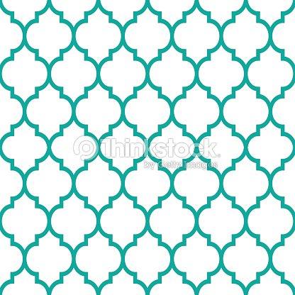 Marokkanische Fliesen Design Nahtlose Turkis Muster Geometrische