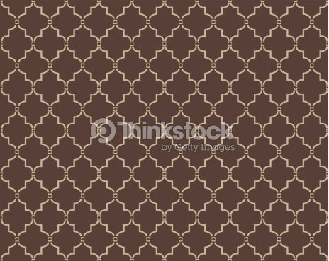 Moroccan Trellis Pattern Vector Art