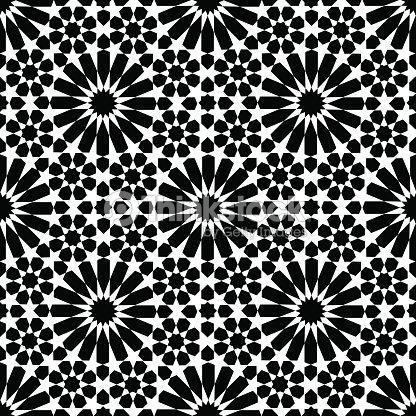 Marocain zellige sans coutures clipart vectoriel thinkstock for Carrelage zellige noir