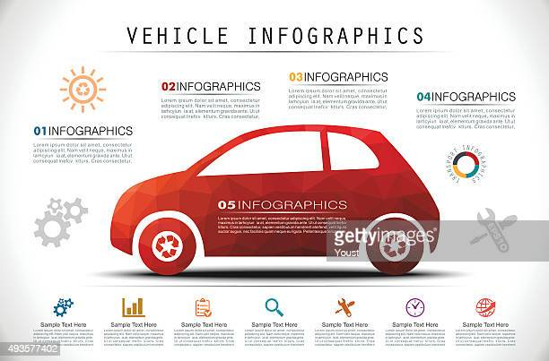 Mosaic Car Infographics