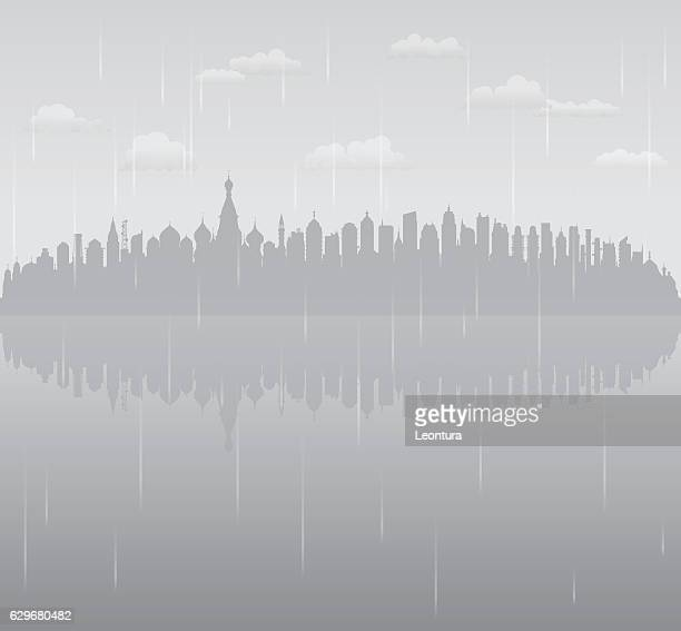 Moscow Rain (All Buildings are Complete and Moveable)