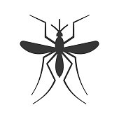 Mosquito Icon on White Background. Vector illustration