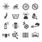 mosquito icon set,vector illustration