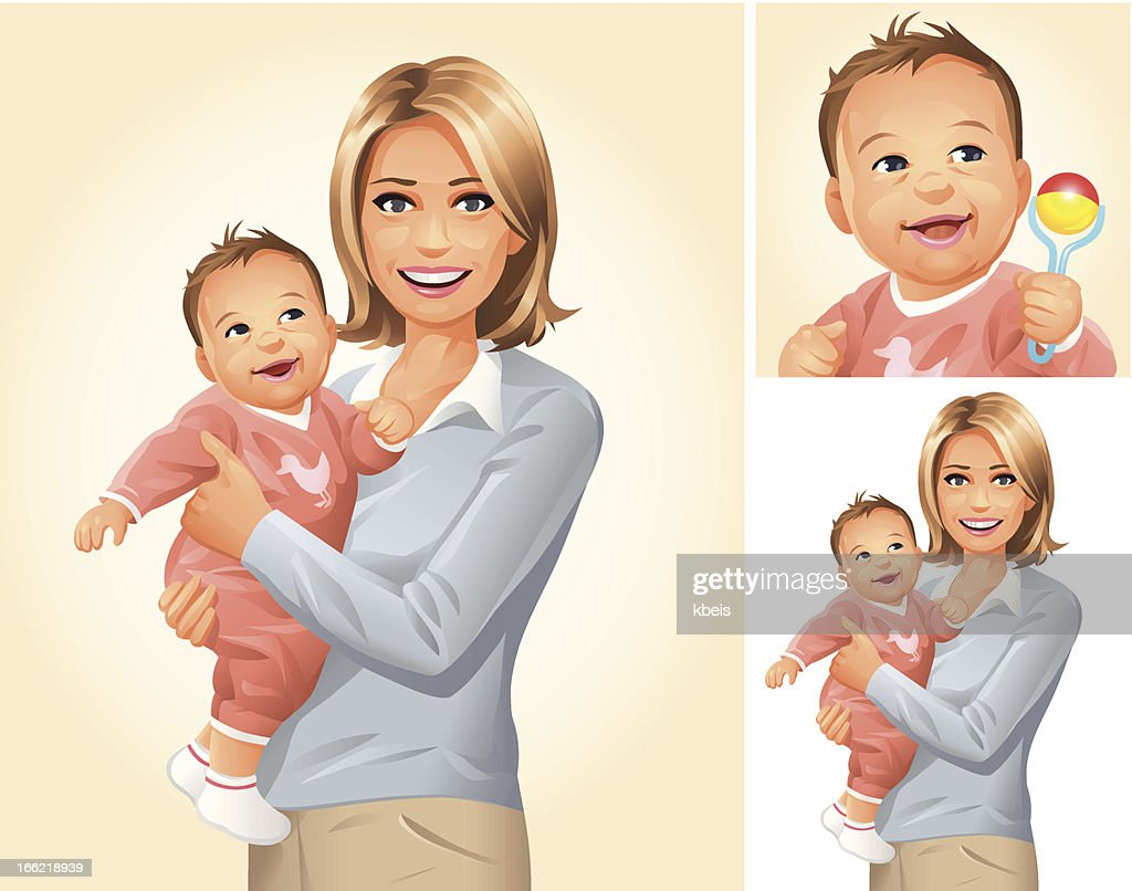 Mother and Baby : Vector Art