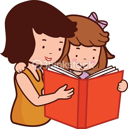 Mother And Daughter Reading A Book Vector Art | Thinkstock