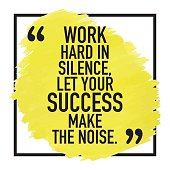 Motivating, motivational quote phrase sayings poster background design about success.