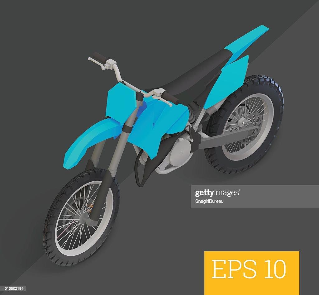 motocross isometric vector illustration : Vector Art