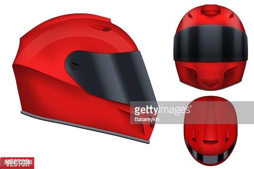 Motor racing helmet with glass visor. : stock vector