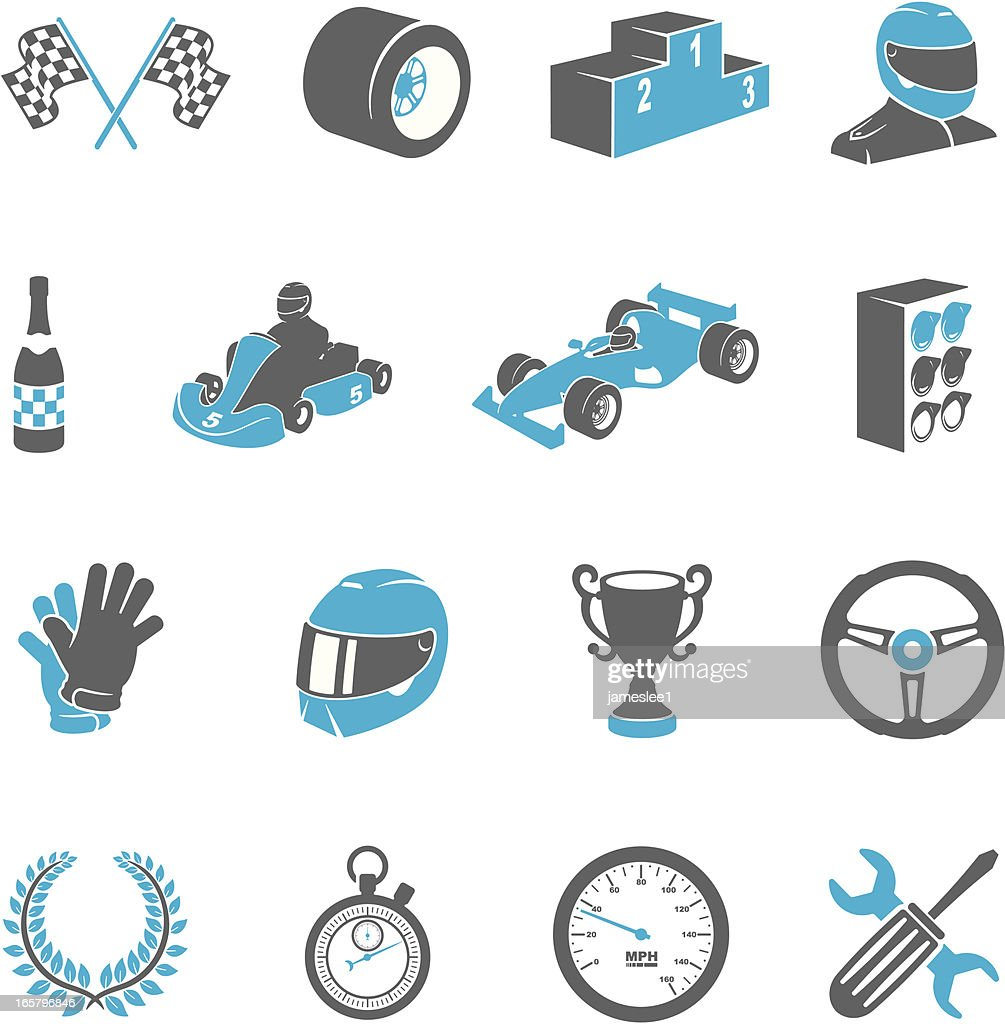 Motor Racing Icons Vector Art Getty Images