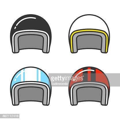 Motorcycle helmet set : stock vector
