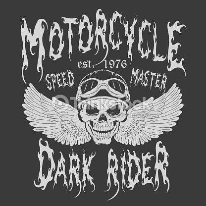 Motorcycle Tshirt Design Vector Art Thinkstock