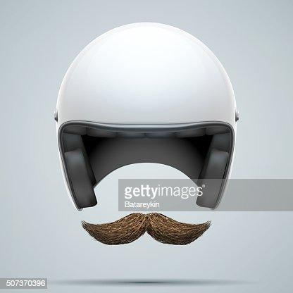 Motorcyclist symbol with mustache : stock vector