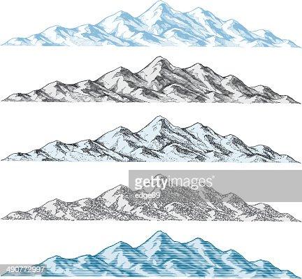 Mountain Drawings : Vector Art