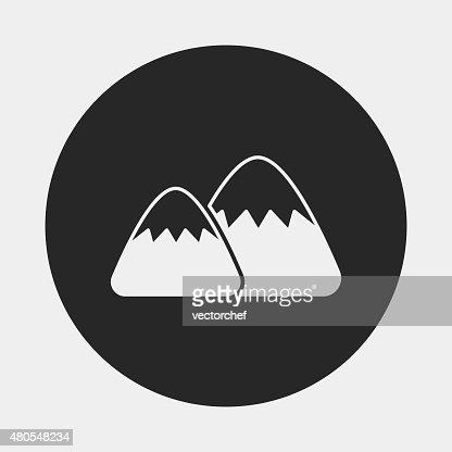 icono de la montaña : Arte vectorial