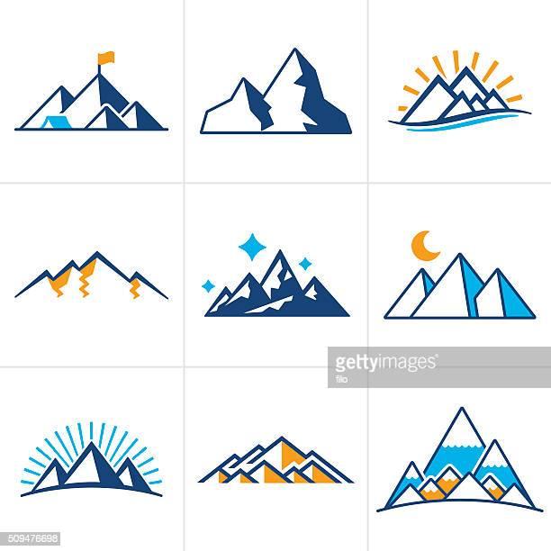 Montaña iconos y símbolos
