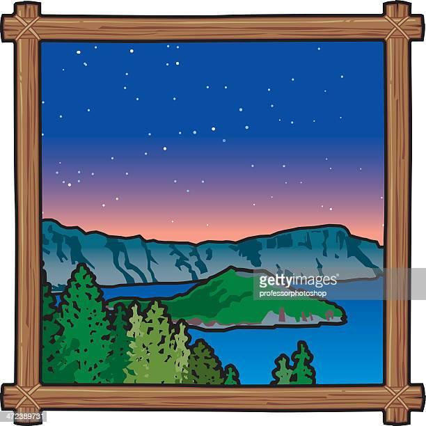 Mountain Lake bei Nacht
