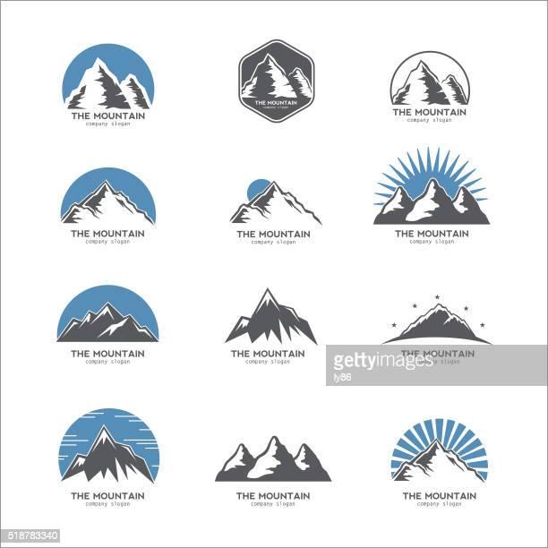 Logotipo de montaña, icono