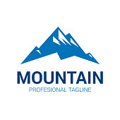 Mountain logo. Vector logo template suitable for businesses and product names.
