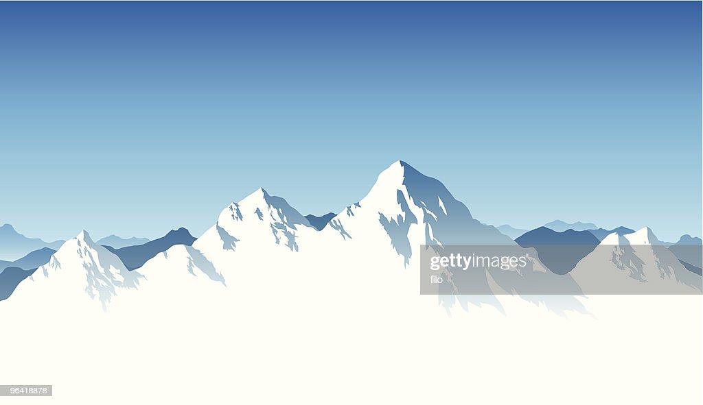 Mountain Range Background : Vector Art