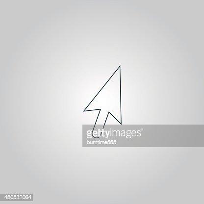 Mauszeiger Pfeil cursor icon-illustration : Vektorgrafik