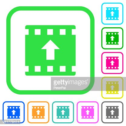 Move Up Movie Vivid Colored Flat Icons Vector Art Thinkstock
