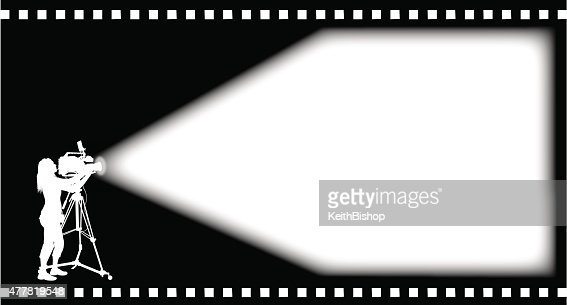movie camera projection background vector art getty images