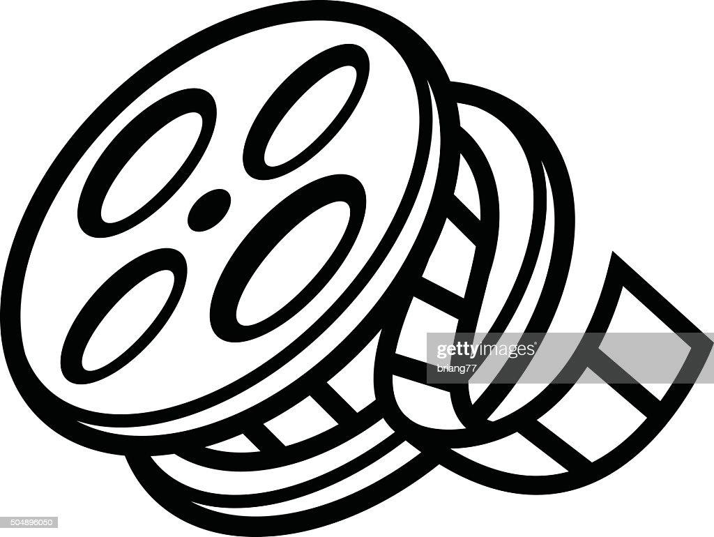 movie film reel vector art thinkstock rh thinkstockphotos in film reel vector art film reel vector download