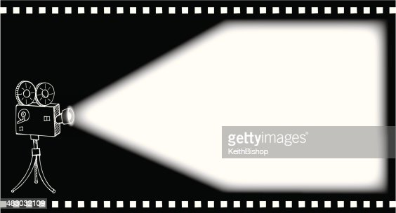 movie projector doodle background vector art getty images
