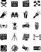 director, chair, icon, theater, vector, sign, softdrink, film, theatre, wreath, slide, lighting, hero, cinema, presentation, symbol, flashlight, video, rope, spotlight, trophy, megaphone, popcorn, col