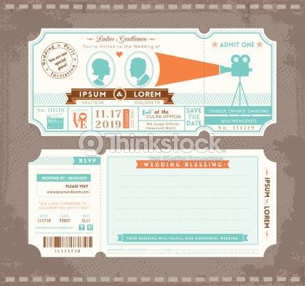 Billet de cinma mariage invitation modle de conception clipart billet de cinma mariage invitation modle de conception clipart vectoriel stopboris Choice Image