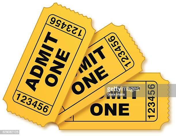 Movie tickets illustration - VECTOR