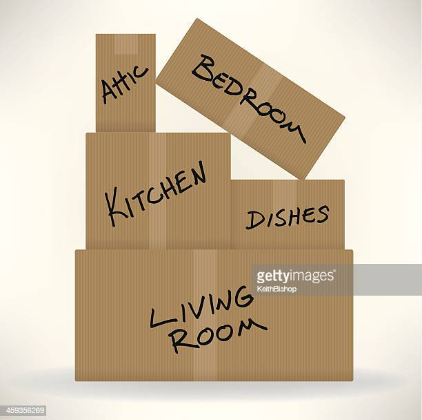 Moving Day - Cardboard Boxes