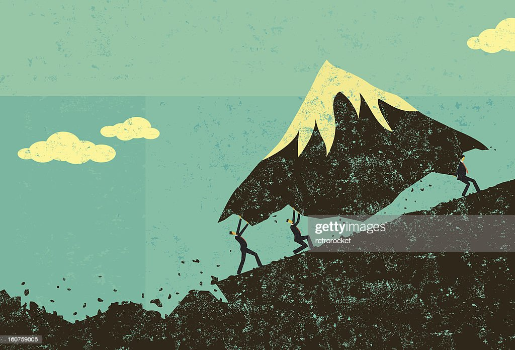 Moving Mountains : Vector Art