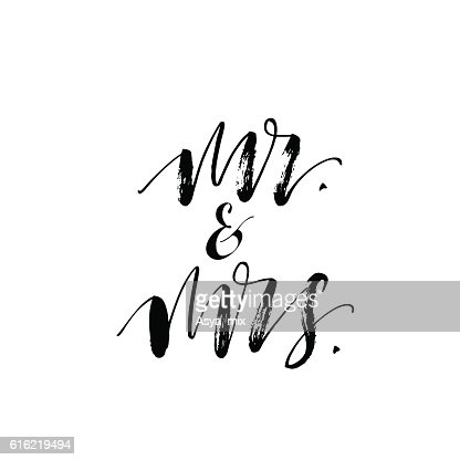 Mr and mrs card. : Clipart vectoriel