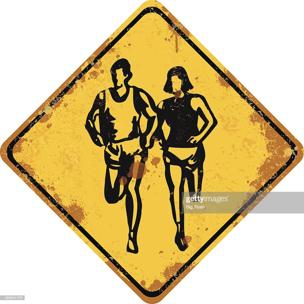 mud run sign : Vector Art