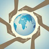 Vector - Multi cultural world - Illustration