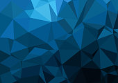 Multicolor geometric rumpled triangular low poly style gradient illustration graphic background. Vector polygonal design for your business.Â