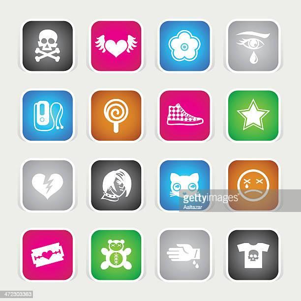 Iconos-Emo Multicolor