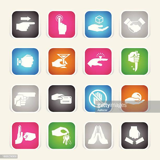 Multicolor Icons - Hands