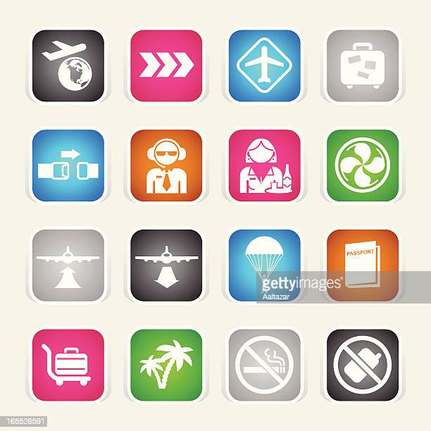 Multicolor Icons - Plane Travel