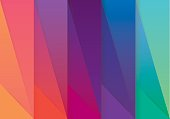 Multicolored abstract wallpaper pattern in material design style with colorful spectrum