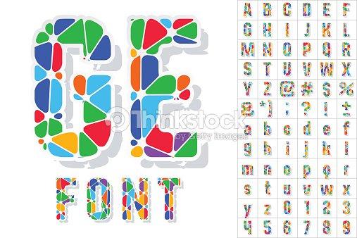 Multicolored Festive Carnival Font Stock Vector Thinkstock