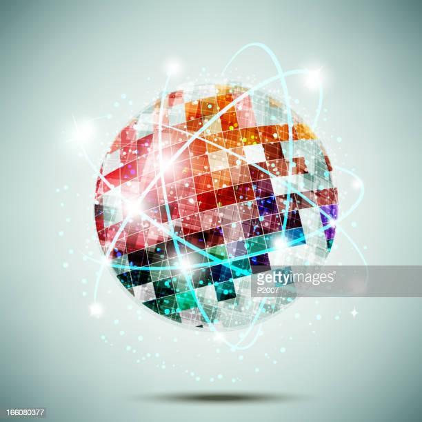 Globo con linee di collegamento multicolore
